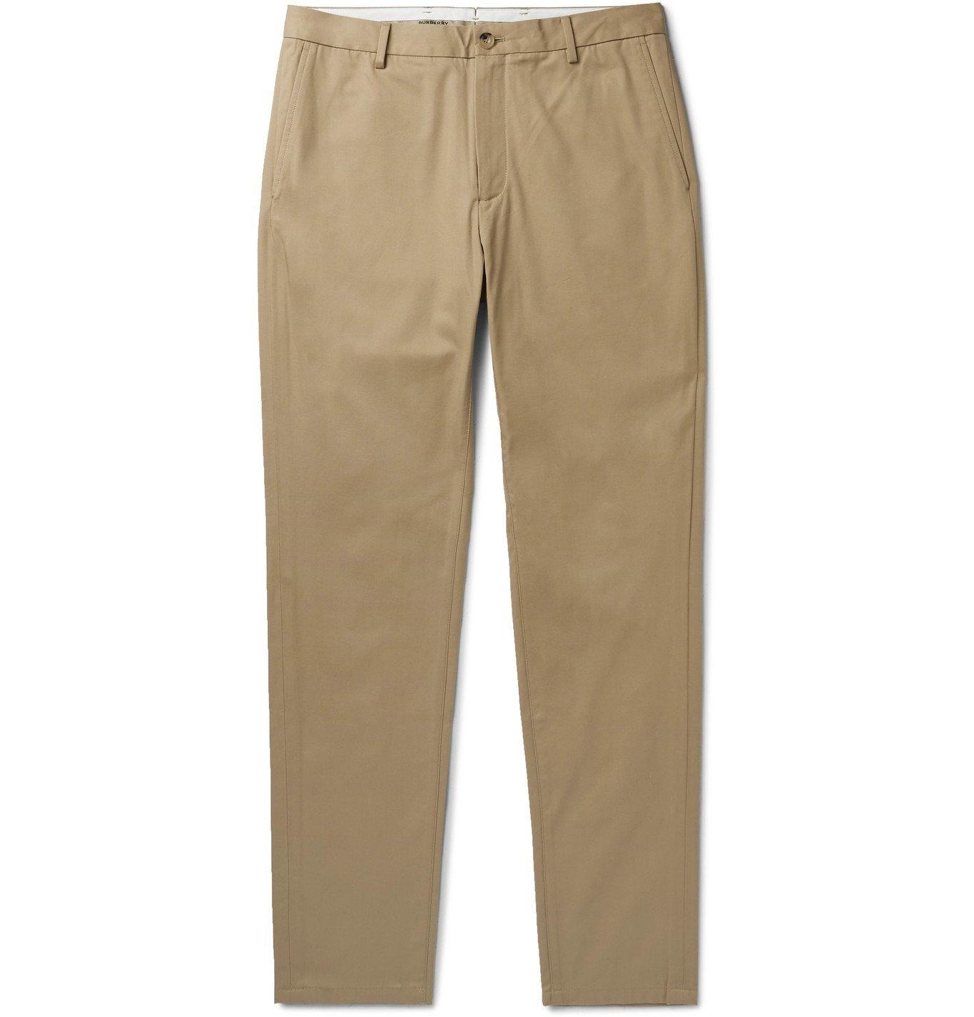 Photo: Burberry - Slim-Fit Cotton-Twill Chinos - Neutrals