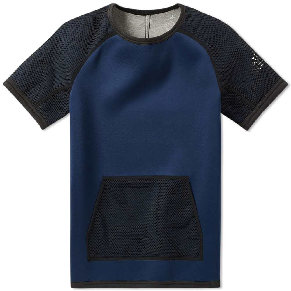Adidas x Kolor Short Sleeve Neoprene Crew Sweat Blue