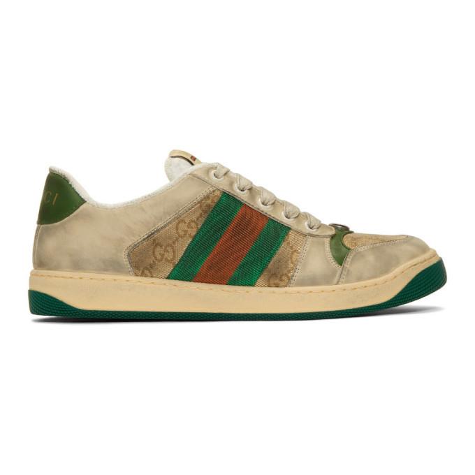 Photo: Gucci White GG Screener Sneakers