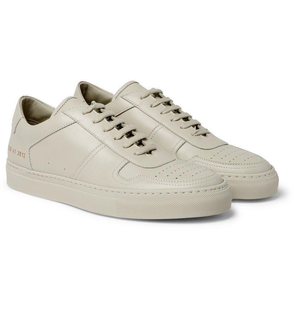 Photo: Common Projects - BBall Leather Sneakers - Stone