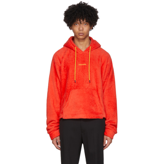 Photo: Pyer Moss Red Sherpa Cropped Hoodie
