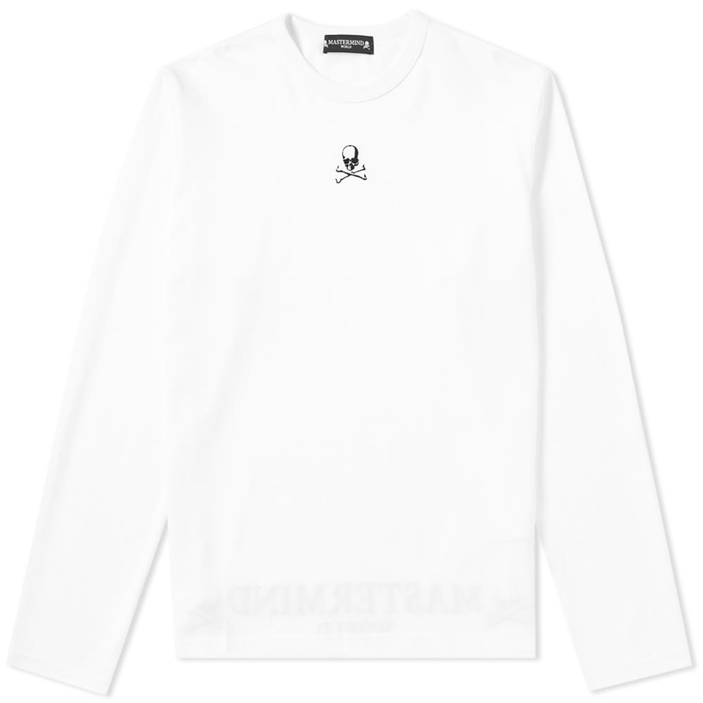 Photo: MASTERMIND WORLD Long Sleeve Embroidered Skull Tee