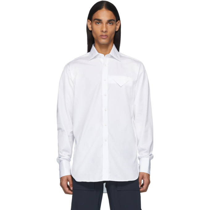 Photo: Bottega Veneta White Poplin Shirt
