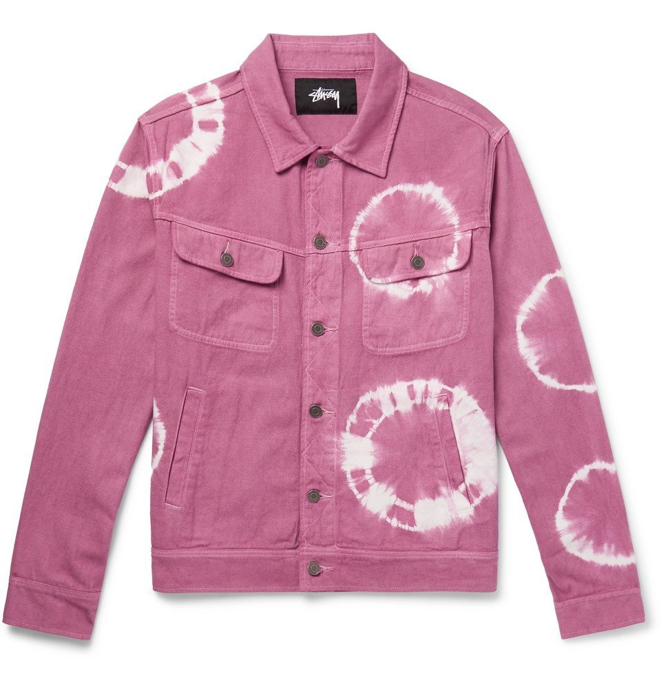 Photo: Stüssy - Tie-Dyed Denim Trucker Jacket - Pink