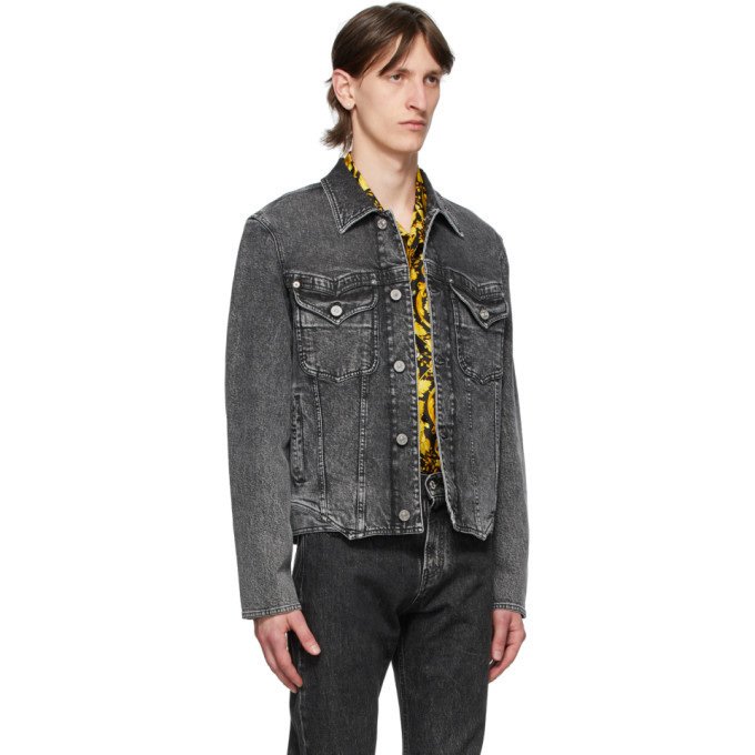 Versace Black Washed Denim Jacket
