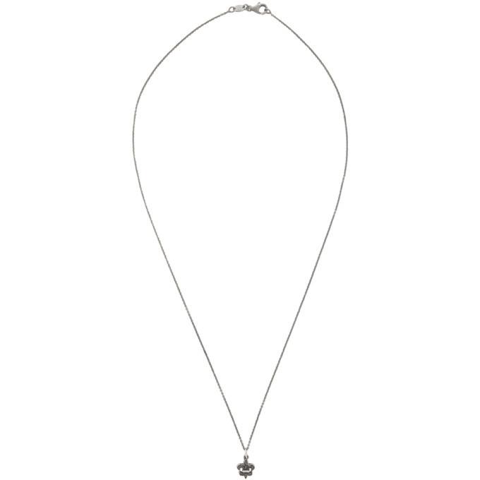 Photo: Luka Sabbat x Monini Silver Fleur de Lis Pendant Necklace