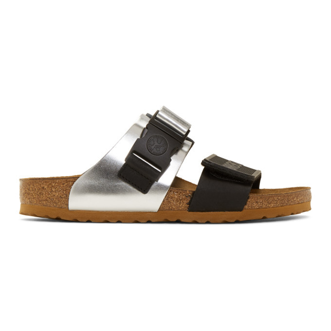 Photo: Rick Owens Black and Silver Birkenstock Edition Rotterdam Combo Sandals