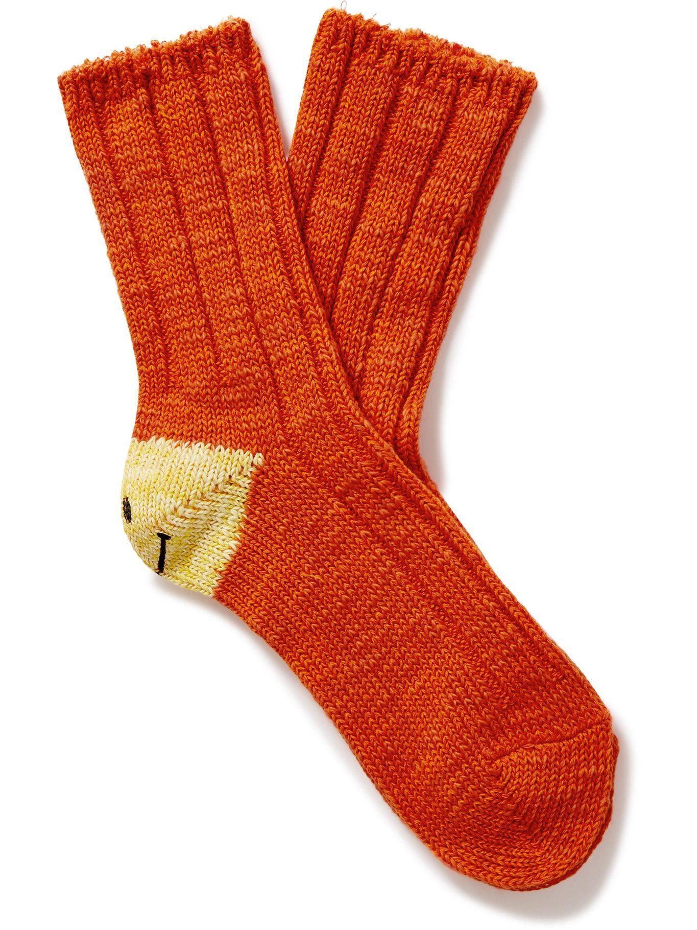 Photo: KAPITAL - Smilie Cotton-Blend Socks