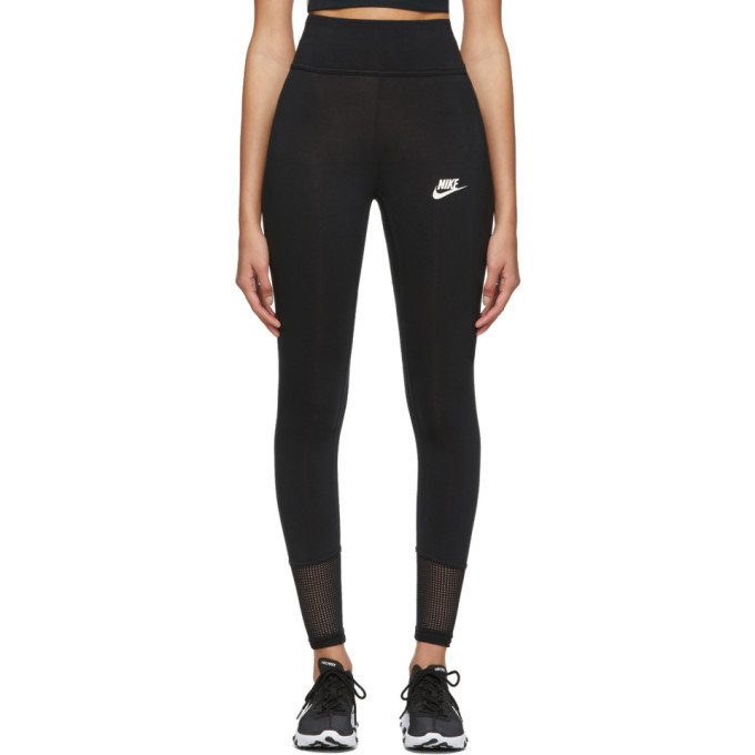 lower price with best sale hot sale online Nike Black Mesh Tight-Fit Leggings
