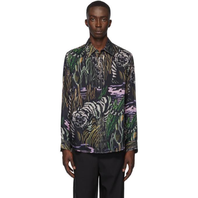 3.1 Phillip Lim Black Tiger Souvenir Shirt