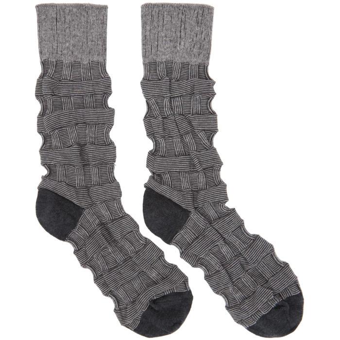 Photo: Issey Miyake Men Grey Weave Socks