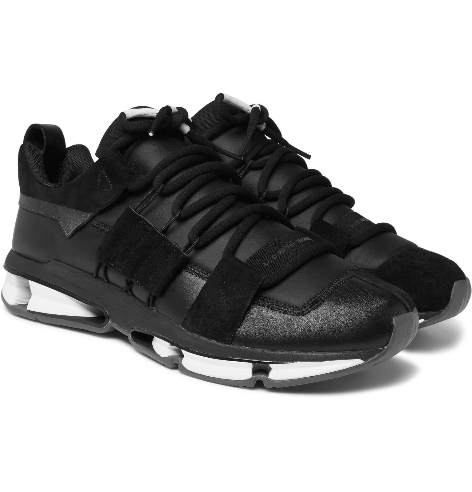 Photo: adidas Originals - Twinstrike ADV Leather and Suede Sneakers - Black