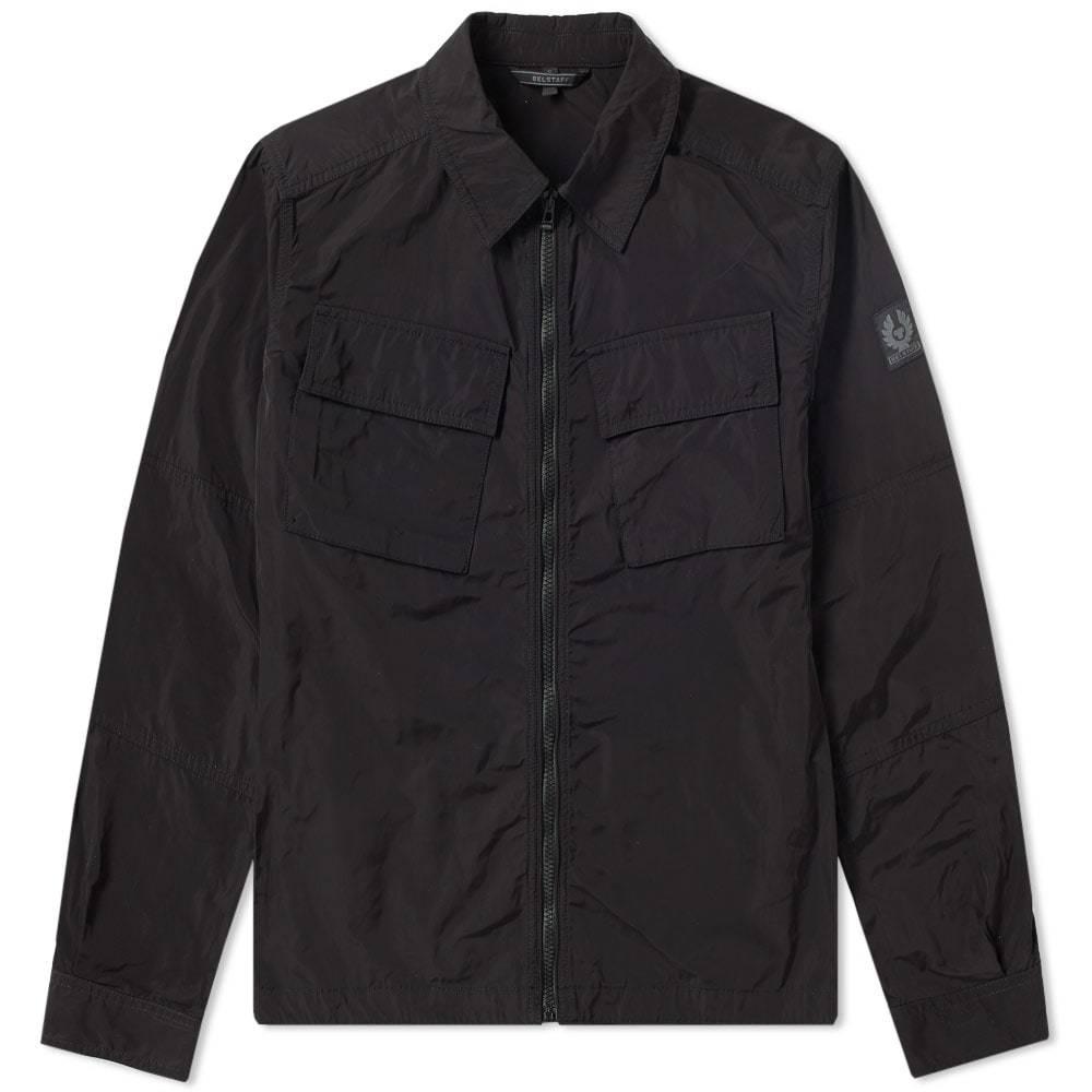 Belstaff Talbrook Zip Shirt Jacket Black