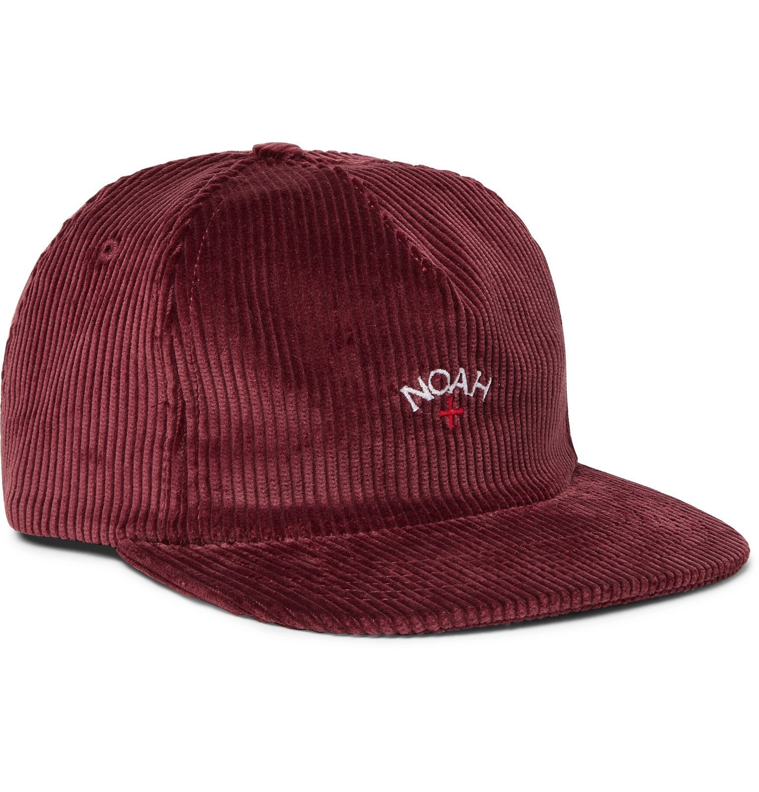 Photo: Noah - Logo-Embroidered Cotton-Corduroy Baseball Cap - Burgundy