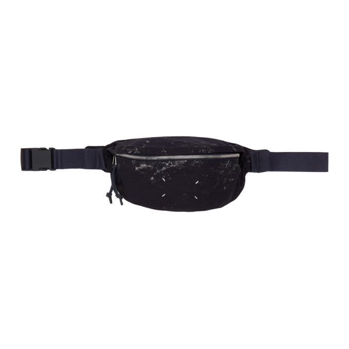 Photo: Maison Margiela Navy Tie-Dye Blue Nights Belt Bag