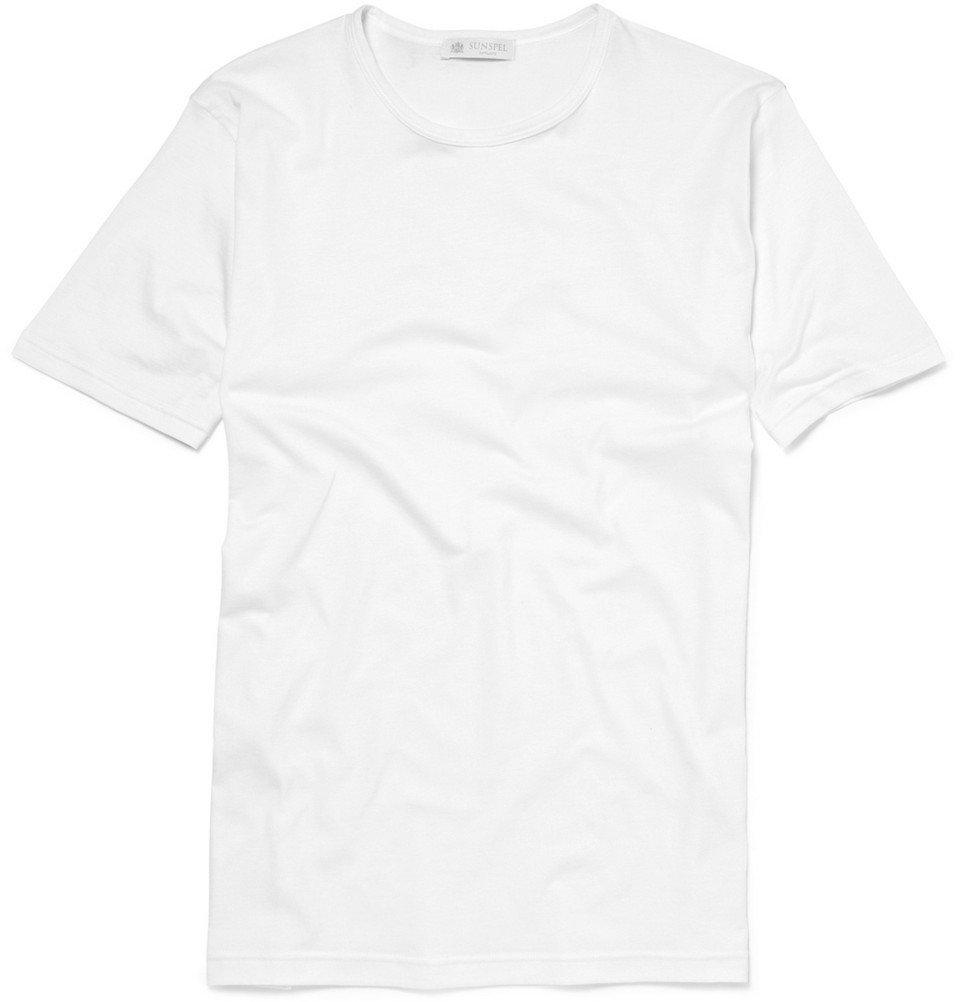 Sunspel - Crew-Neck Superfine Cotton Underwear T-Shirt - Men - White