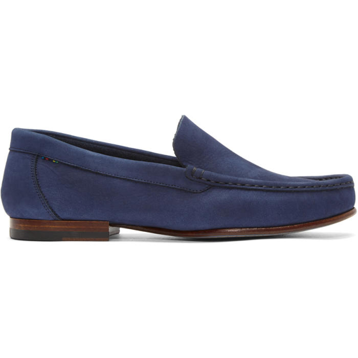 Photo: PS by Paul Smith Navy Nubuck Danny Loafers