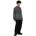 Sacai Black and Grey Wool Leopard Shirt