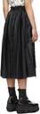Sacai Black Nylon Twill Mid-Length Skirt