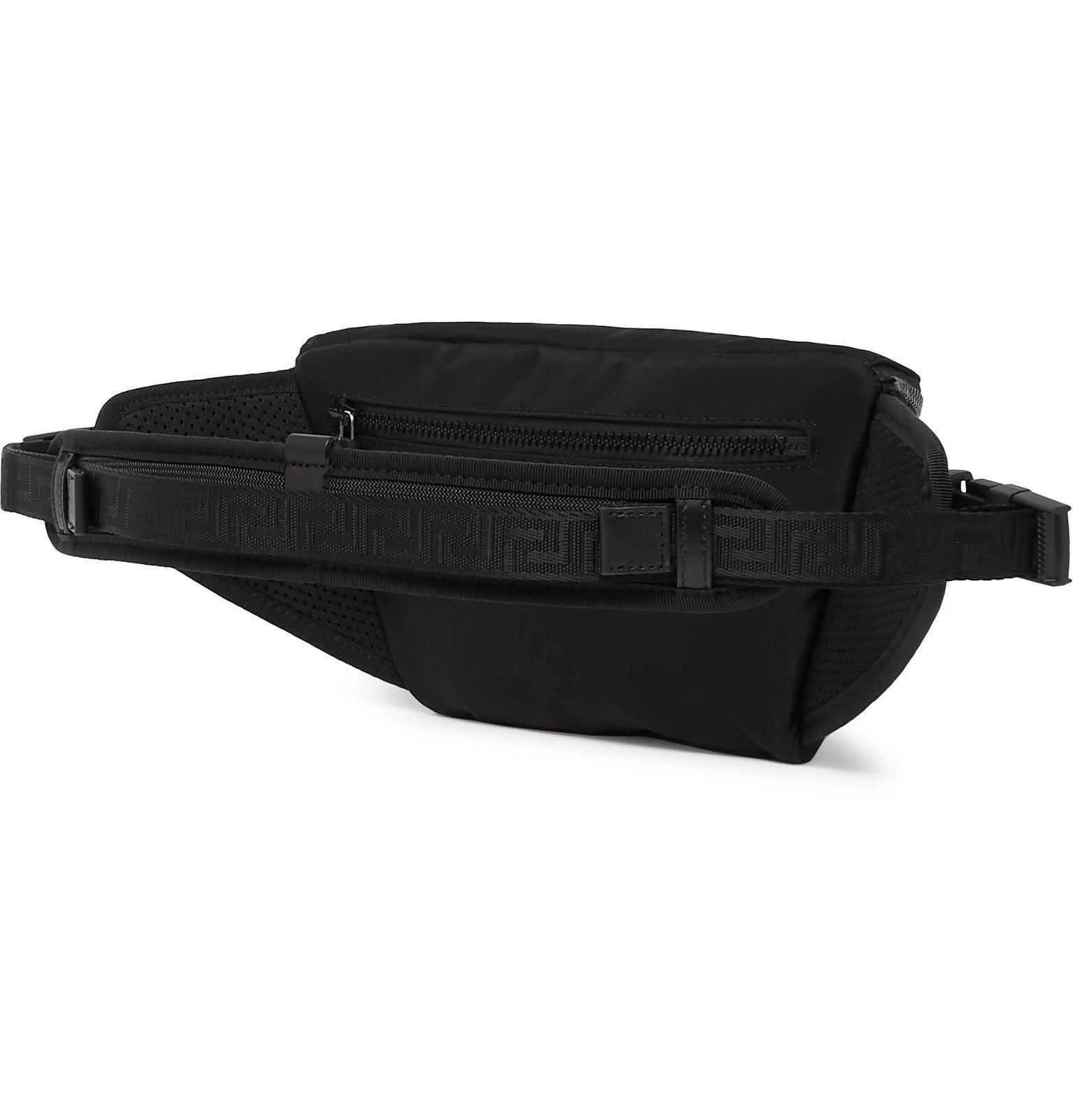 Versace - Logo-Embellished Shell Belt Bag - Black