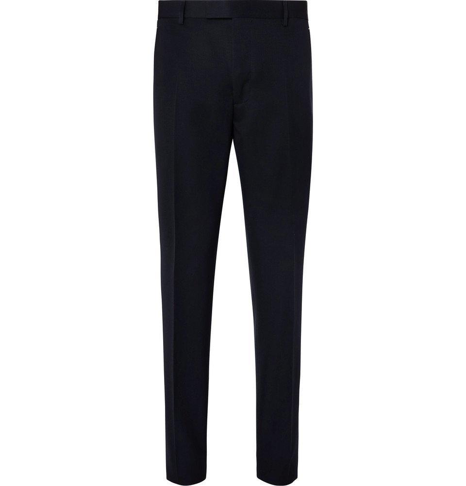 Photo: Berluti - Midnight-Blue Slim-Fit Wool-Twill Suit Trousers - Midnight blue