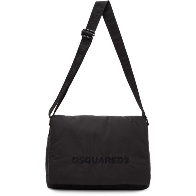 Photo: Dsquared2 Black Quilted Nylon Messenger Bag