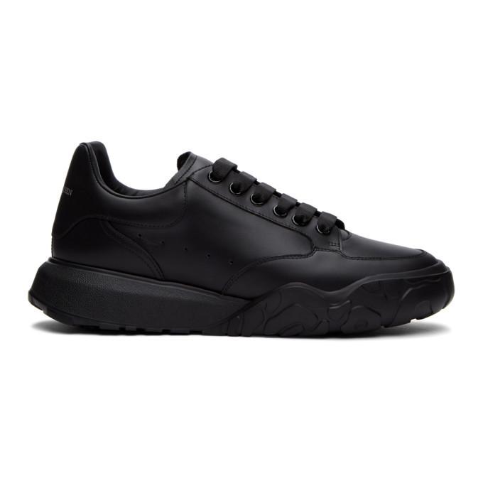 Photo: Alexander McQueen Black Low Sneakers