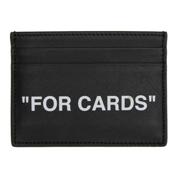 Photo: Off-White Black Quote Cardholder