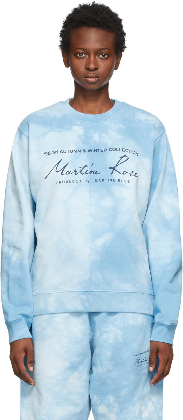 Photo: Martine Rose Blue Dye Classic Crew Sweatshirt
