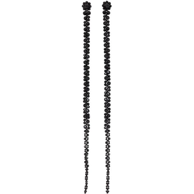 Photo: Simone Rocha Black Long Drip Earrings