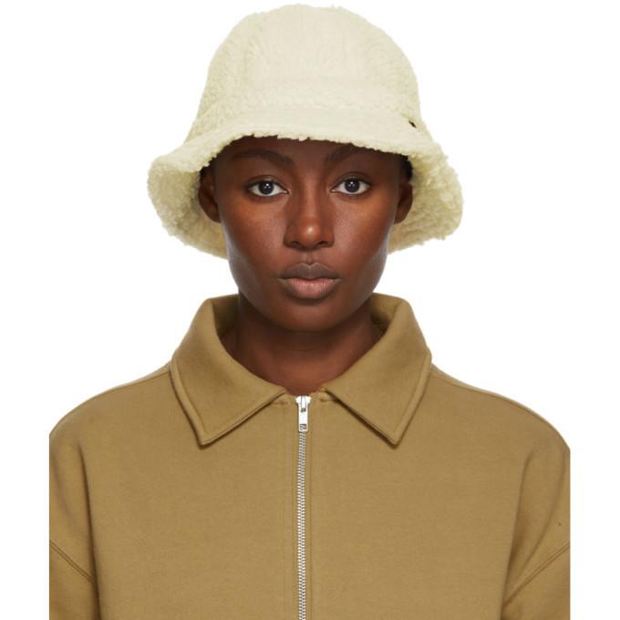 Photo: Stussy Off-White Sherpa Fleece Bucket Hat
