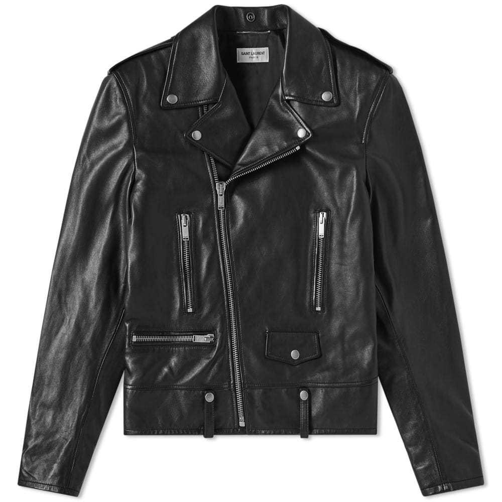 Photo: Saint Laurent Classic Biker Jacket Black