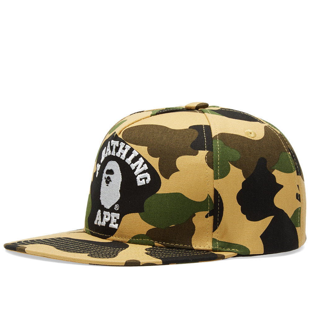 Photo: A Bathing Ape 1st Camo College Snapback Cap