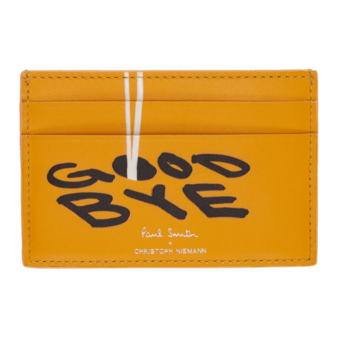 Photo: Paul Smith and Christoph Niemann Yellow Hello Card Holder