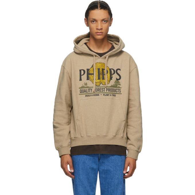 Photo: Phipps Taupe Lumber Logo Hoodie