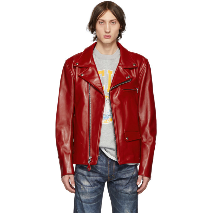Photo: Junya Watanabe Red Leather Biker Jacket