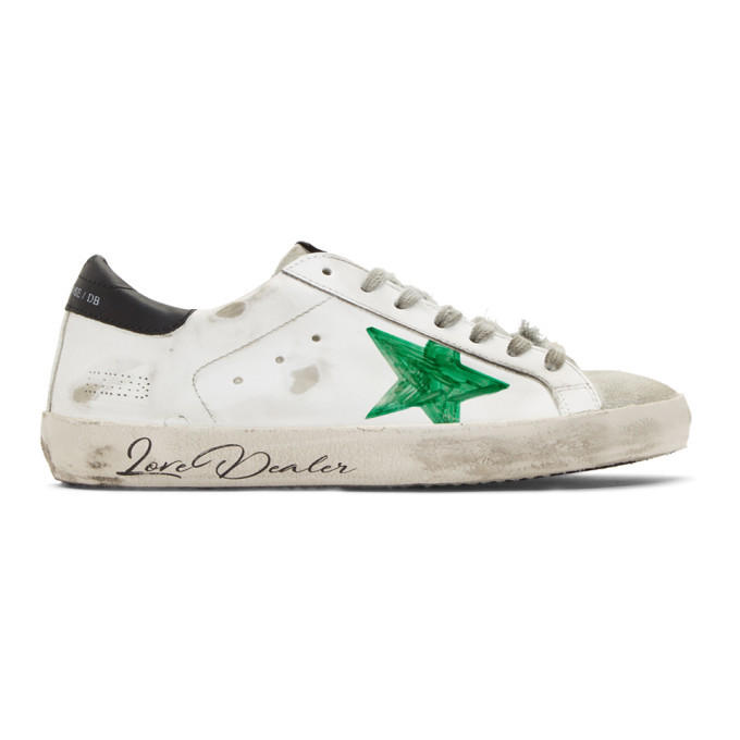 Golden Goose White and Green Love