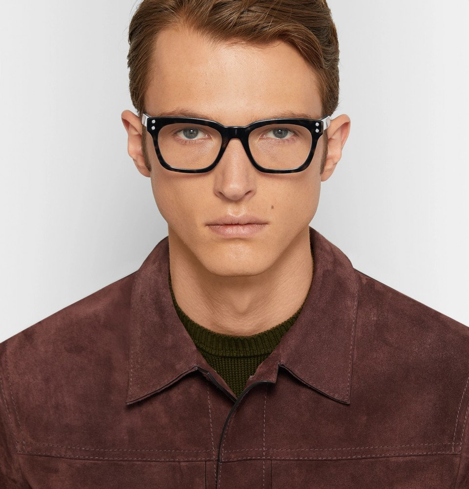 Bottega Veneta - Square-Frame Tortoiseshell Acetate Optical Glasses - Tortoiseshell