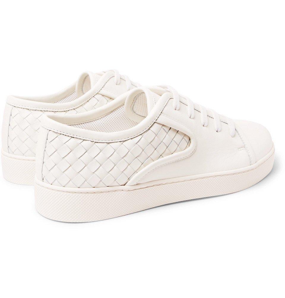 Bottega Veneta - Dodger Intrecciato Leather Sneakers - Men - White