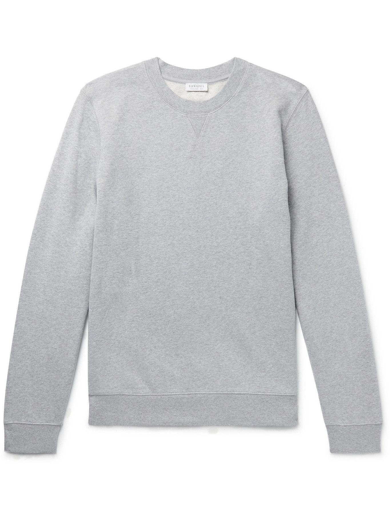 Photo: Sunspel - Cotton-Jersey Sweatshirt - Gray
