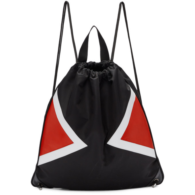 Photo: Neil Barrett Black and Red Contrast Detail Drawstring Backpack