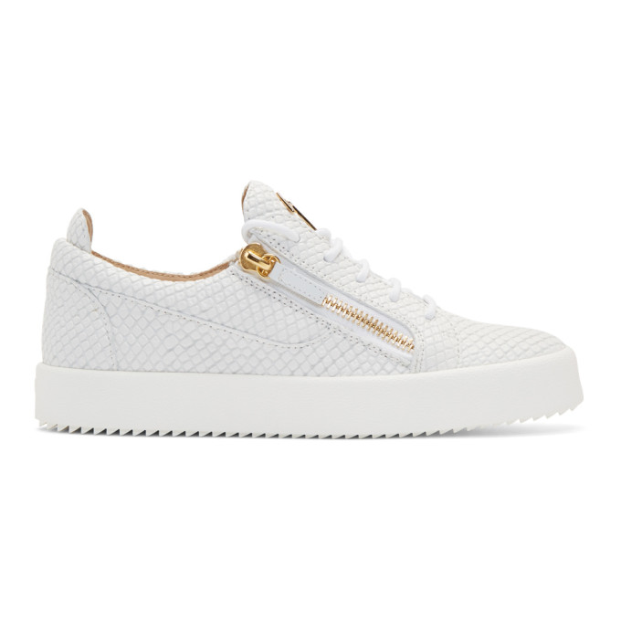 Photo: Giuseppe Zanotti White Snake May London Sneakers