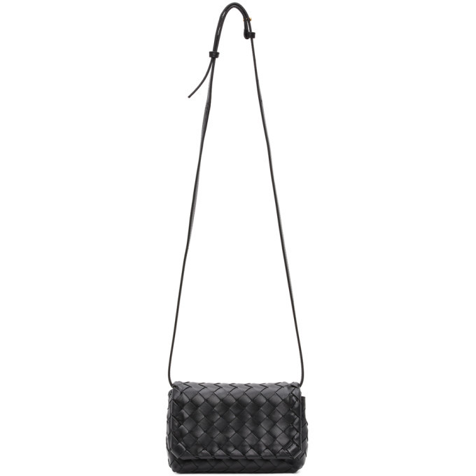 Photo: Bottega Veneta Black Intrecciato Mini Bag