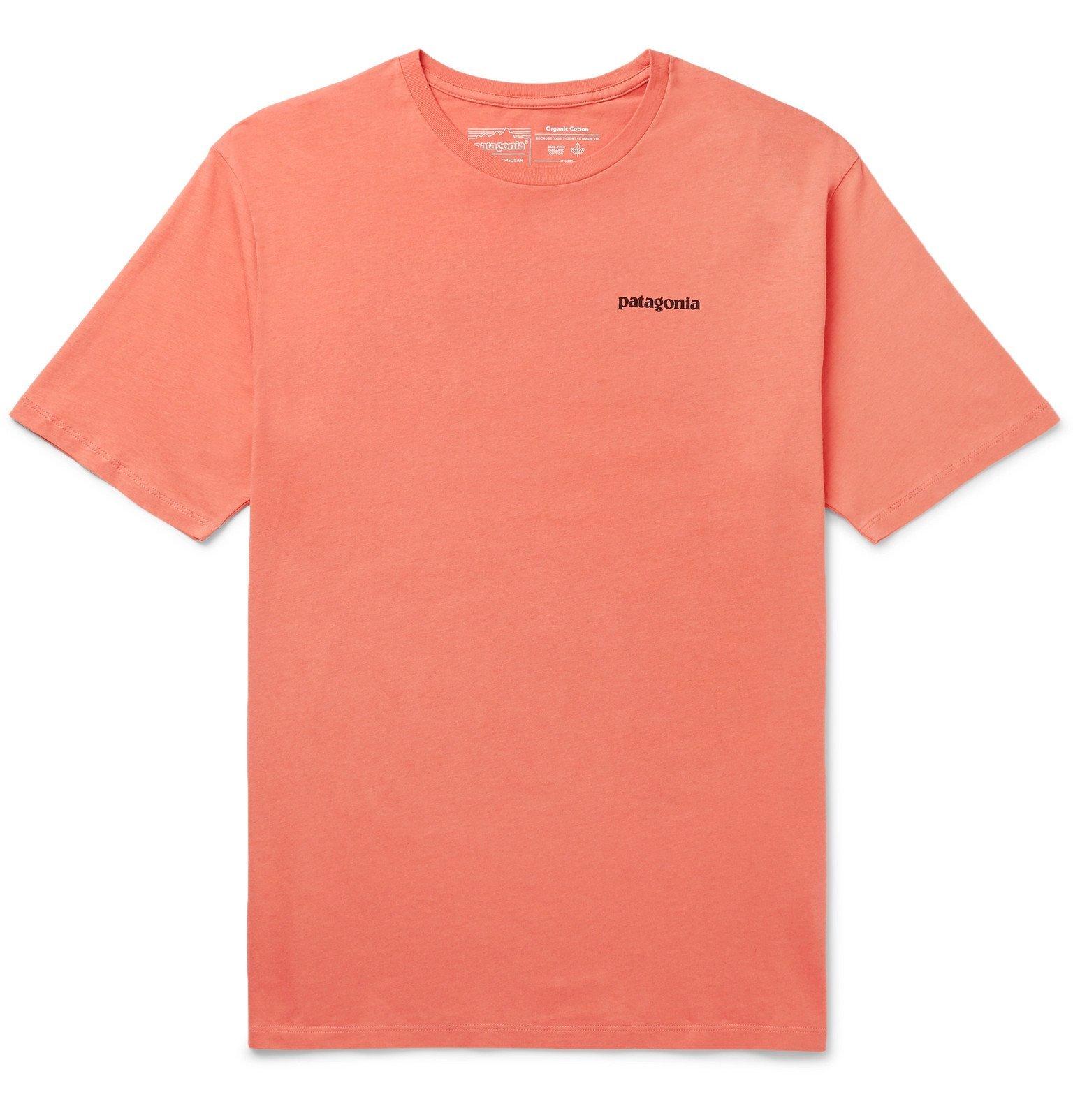 Photo: Patagonia - P-6 Logo-Print Organic Cotton-Jersey T-Shirt - Orange