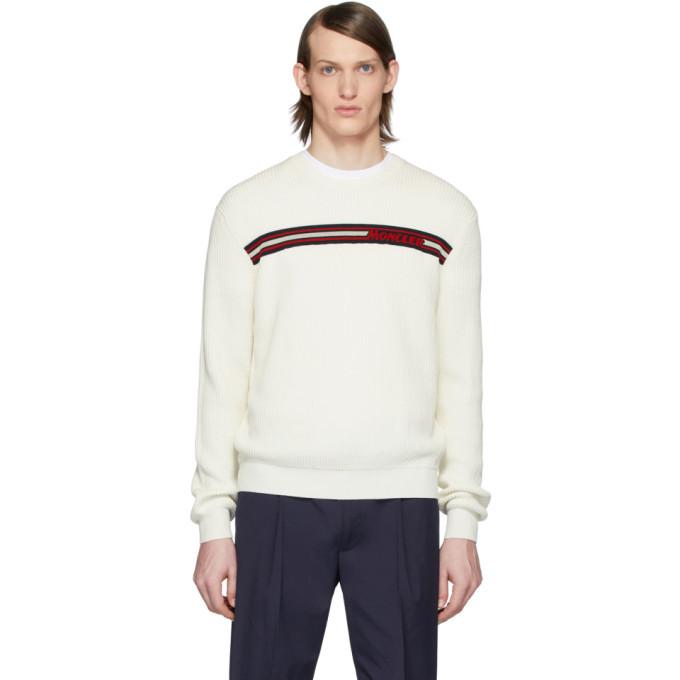 Photo: Moncler White Knit Crewneck Sweater
