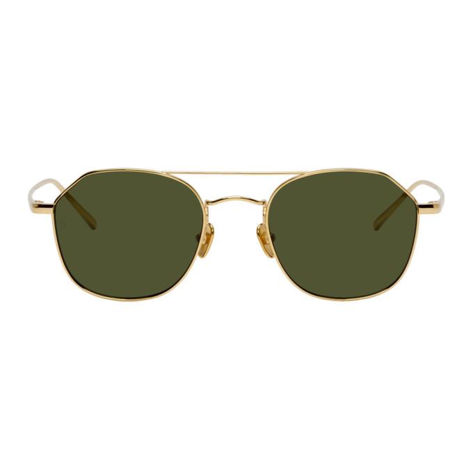 Photo: Linda Farrow Luxe Gold Dante C4 Sunglasses