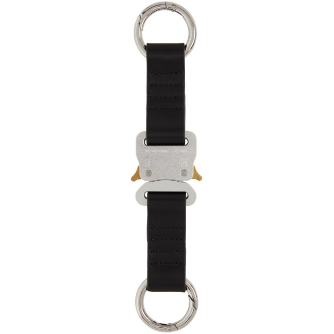 Photo: 1017 ALYX 9SM Silver Leather Short Buckle Keychain