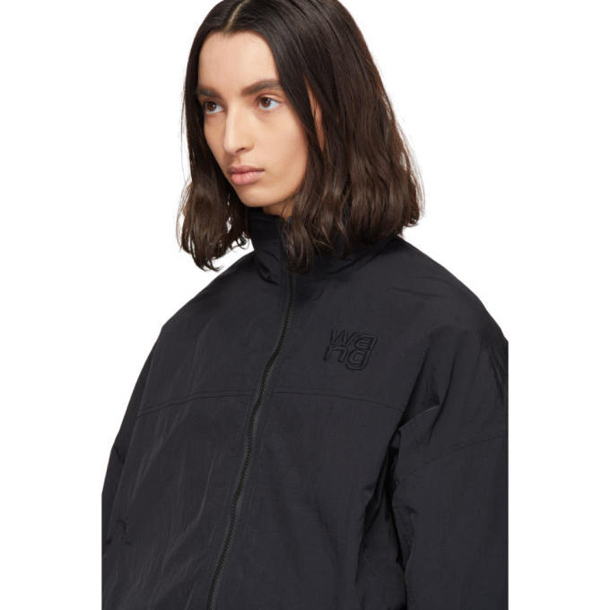 alexanderwang.t Black Nylon Zip Jacket