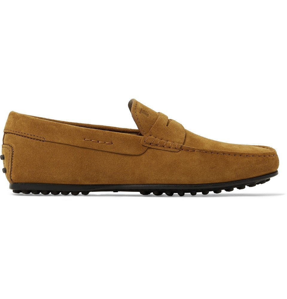 Tod's - City Gommino Suede Penny Loafers - Men - Tan