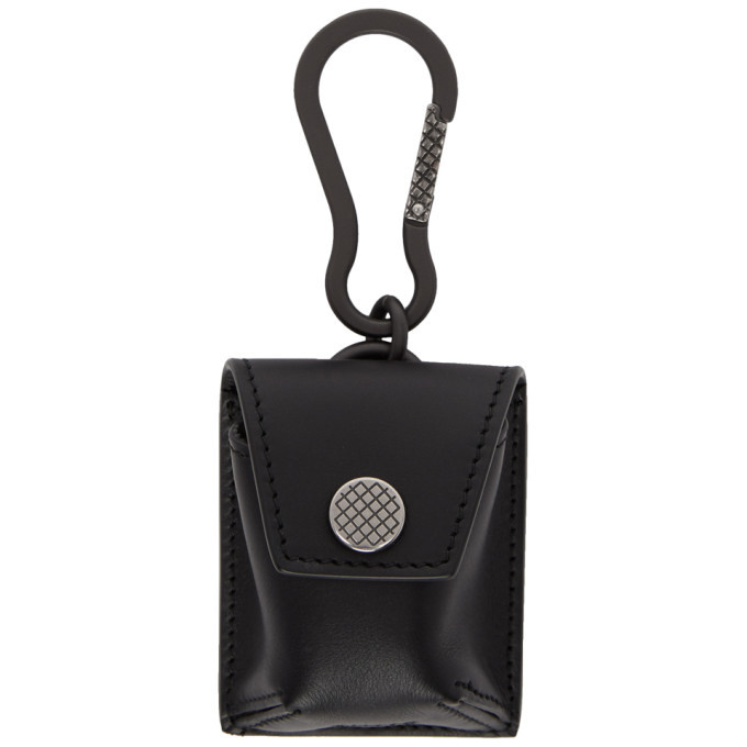 Photo: Bottega Veneta Black Wireless Earbud Case Keychain